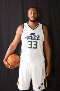 Sep 26, 2016; Salt Lake City, UT, USA; Utah Jazz center Boris Diaw (33) during Media Day at Zion Bank Basketball Center. Mandatory Credit: Russ Isabella-USA TODAY Sports